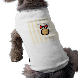 Merry Christmas Gold Ornament Doggie Tank Top YEL