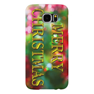 Merry Christmas Gold Samsung Galaxy S6 Case