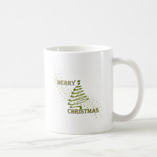 Merry Christmas Gold Tree Mugs