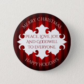 Merry Christmas goodwill to all 2 Inch Round Button