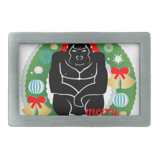 merry christmas gorilla belt buckles