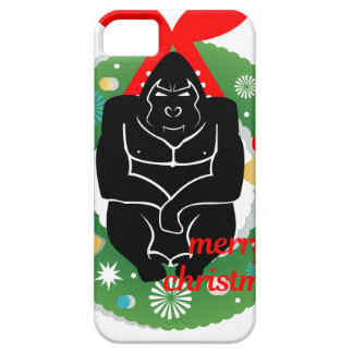 merry christmas gorilla iPhone 5 covers