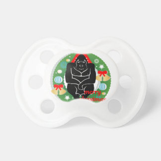 merry christmas gorilla pacifier