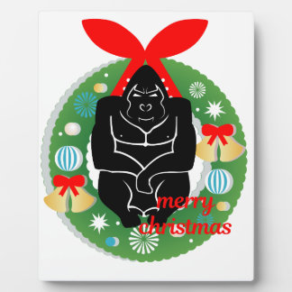 merry christmas gorilla plaque