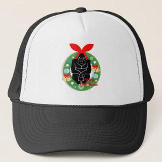 merry christmas gorilla trucker hat