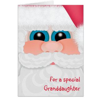 Merry Christmas Granddaughter Sweet Santa Card