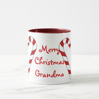 Merry Christmas Grandma Candy Cane Mug by Janz