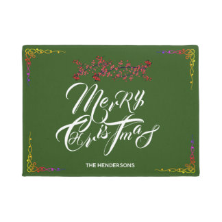 Merry Christmas Green - Doormat