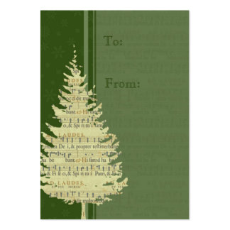 Merry Christmas Green Tree Gift Tags Large Business Card