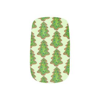 Merry Christmas Green Tree Sugar Cookie Holiday Minx Nail Art