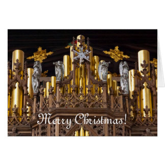 Merry Christmas greeting card - Chester Cathedral