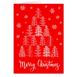 Merry Christmas greeting card hand drawn