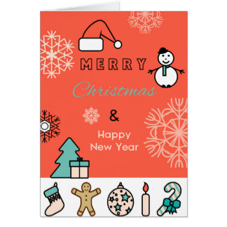 Merry Christmas Greeting Card, Standard Card
