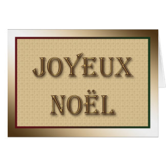 Merry Christmas Greeting in French Greeting Card