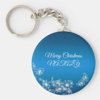 Merry Christmas. Greeting. Keychain