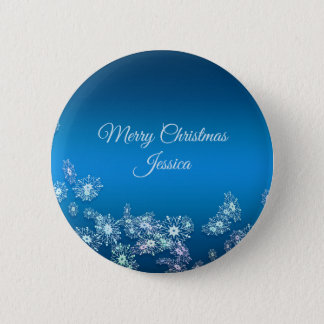Merry Christmas. Greeting.Name. 2 Inch Round Button