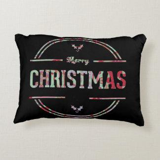 Merry Christmas Greeting Pillow