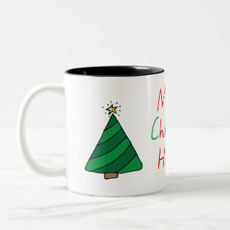 Merry Christmas Habibi Two-Tone Coffee Mug