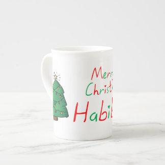 Merry Christmas Habibti Tea Cup