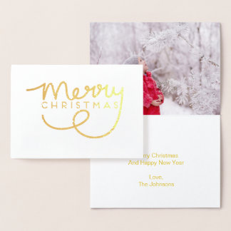 Merry Christmas Hand Lettered Greeting Card
