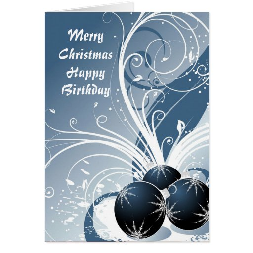 Merry Christmas Happy Birthday Greeting Cards Zazzle Happy Birthday And Merry Wishes