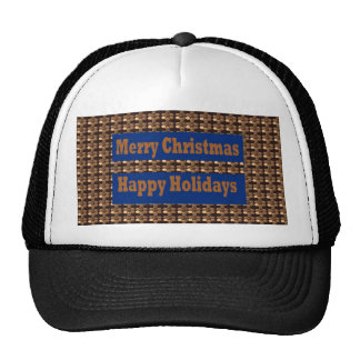 Merry Christmas  Happy Holidays Text Template GIFT Hats