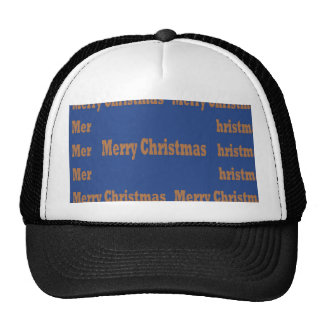 Merry Christmas  Happy Holidays Text Template GIFT Trucker Hat