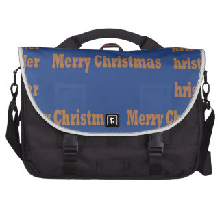 Merry Christmas  Happy Holidays Text Template GIFT Laptop Commuter Bag