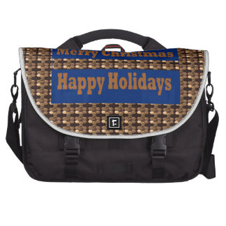 Merry Christmas  Happy Holidays Text Template GIFT Laptop Bags