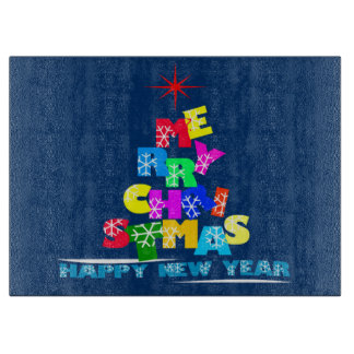 Merry Christmas Happy New Year Boards