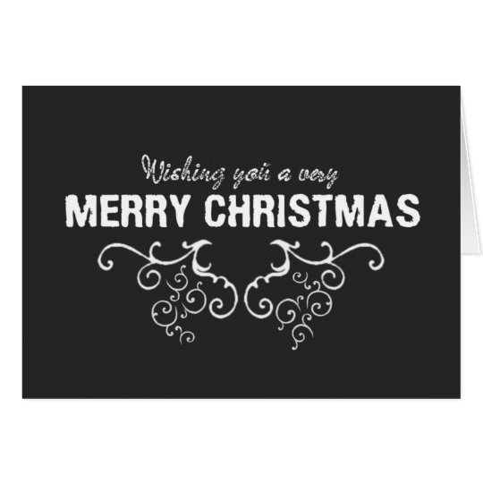 Merry Christmas Happy New Year Chalkboard Card