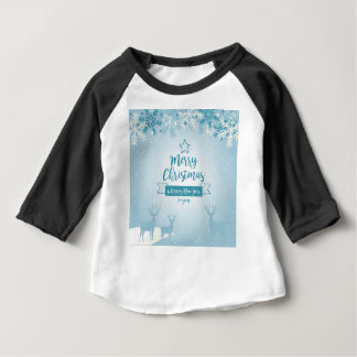 Merry Christmas & Happy New Year Elegant Unique Baby T-Shirt