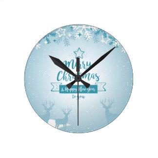 Merry Christmas & Happy New Year Elegant Unique Clocks