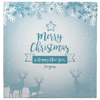 Merry Christmas & Happy New Year Elegant Unique Napkin