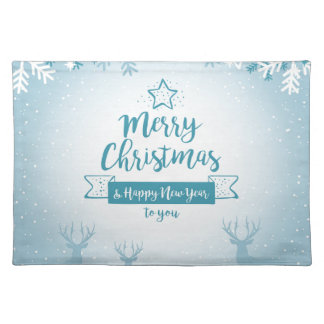 Merry Christmas & Happy New Year Elegant Unique Placemat