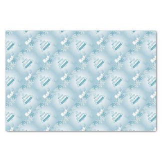 Merry Christmas & Happy New Year Elegant Unique Tissue Paper