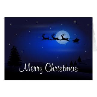 Merry Christmas Happy New Year Santa's Reindeer Card