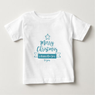 Merry Christmas & Happy New Year Simple Elegant Baby T-Shirt