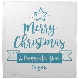 Merry Christmas & Happy New Year Simple Elegant Napkin