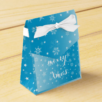 Merry Christmas Happy New Year Snow Gift Box Favor Boxes