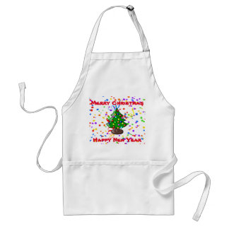 Merry Christmas & Happy New Year Standard Apron