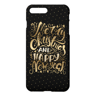 Merry Christmas & Happy New Year Typography iPhone 8 Plus/7 Plus Case