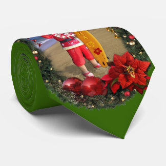 Merry Christmas Hawaiian Style Tie