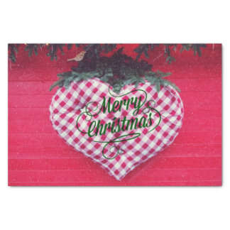 "Merry Christmas Heart 10"" X 15"" Tissue Paper"