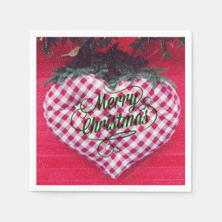 Merry Christmas Heart Disposable Napkin