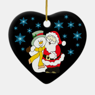 Merry Christmas Heart Ornament
