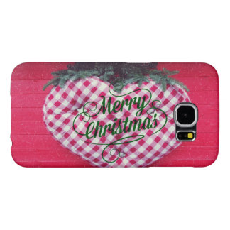 Merry Christmas Heart Samsung Galaxy S6 Cases