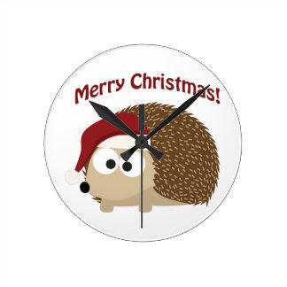 Merry Christmas! Hedgehog Clock