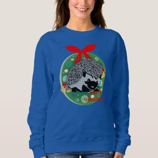 merry christmas hedgehog sweatshirt