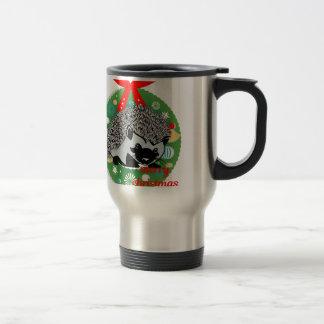 merry christmas hedgehog travel mug